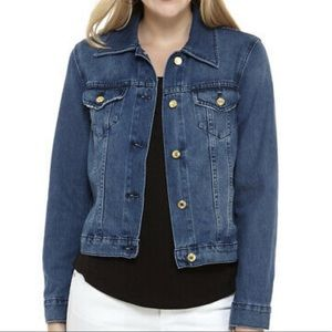 Michael Kors riviera blue denim jacket 100% cotton
